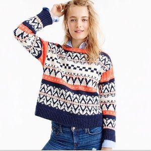 J.Crew wool print sweater